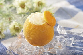 フレンズファクトリー)オレンジシャーベットラウンド1個 フレンズファクトリー シャーベット アイス 洋菓子 【冷凍食品】【業務用食材】【8640円以上で送料無料】