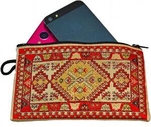 ペルシャ絨毯トルコ絨毯小銭入れ携帯ケースポーチペルシャ絨毯柄(トルコ絨毯)小銭入れiPhone・スマホ、デジカメがすっぽり入るサイズ!送料無料メール便税込