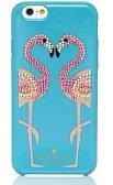 【正規品・送料無料】Katespade ケイトスペード WIRU0412 Katespade FLAMINGO iPhone6ケース フラミンゴ柄 ビジュ ブルー系 代引き不可