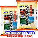 無洗米 減農薬 米 10kg(5kg×2) つがるロマン 青森県産 減化学肥料 令和元年産 送料無料