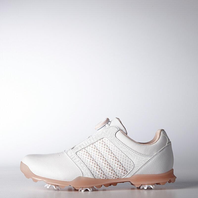 アディダスゴルフ(adidas Golf) ウィメンズ アディピュア ボア/ホワイト/ベイパーピンク   /WI911 /Q44865 【送料無料】 アディダスゴルフ 公式ショップ