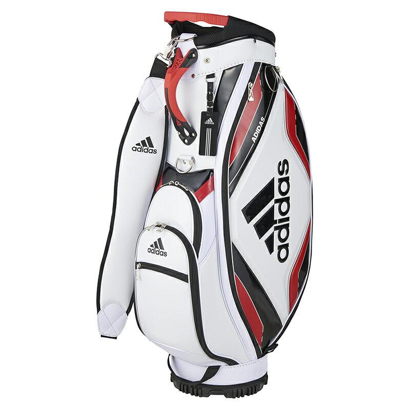 アディダスゴルフ(adidas Golf) キャディバッグ2/ホワイト/レッド /AWR86/A10207 【送料無料】 アディダスゴルフ 公式ショップグレードのハイエンド雰囲気