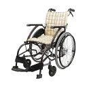 車椅子アルミ軽量折りたたみ自走式車椅子ノーパンクタイヤウェイビットWAVITWA22-40S[介助