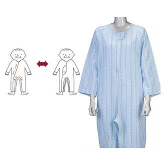 護理睡衣連接軟鍵睡衣平開緊固件 3 季節保健衣服護理睡衣套裝 (護理用品護理睡衣睡衣睡衣)