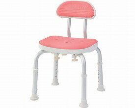 コンパクトバスチェア 背付きBC-01H-PI ピンク(シャワーチェア バスチェアー 介護用風呂椅子 シャワーベンチ 介護用品  高齢者用 老人用  ) 【敬老の日】