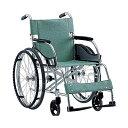 アルミ軽量折りたたみ自走式車椅子 立ち止まり君付車椅子[超軽量基本タイプ] MW-SL1BT[松