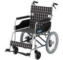 アルミ製介助用車椅子 TC/NC-2CB 介助ブレーキ付[