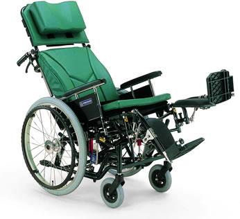 ティルティング&リクライニング自走用車椅子KX22-42EL[エレベーティング&スイングアウト]車い