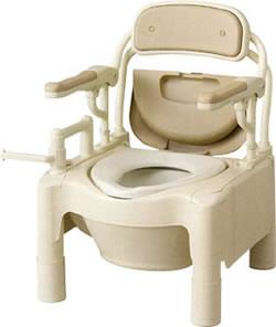 安寿ポータブルトイレFX-CP「はねあげ」標準[トランスファータイプ](ポータブルトイレ簡易トイレ介