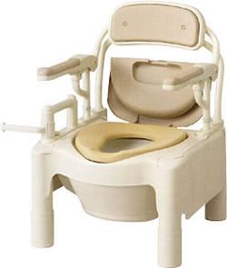 安寿ポータブルトイレFX-CP「はねあげ」快適脱臭[ノーマルタイプ]トイレ消臭(ポータブルトイレ簡易