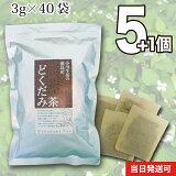 徳島産どくだみ茶 5個セット120g(40袋)無漂白ティーバッグ使用【当日発送可】※レビューご記入の方1個プレゼントさらに2パック入りを2個プレゼント