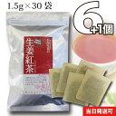 【送料無料】 小川生薬 生姜紅茶 1.5g×30袋 テトラバッグ 6個セットさらにもう1個プレゼント