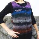 野呂英作の毛糸・くれよんで編む飾りポケットがかわいいシンプルベスト【ニットキット】