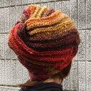 野呂英作の毛糸くれよんで編むカラフル☆トルネード模様の帽子【ニットキット】