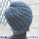 ●編み針セット●スターメツィードで編むシンプルな帽子 手編みキット ハマナカ・リッチモア 編み図