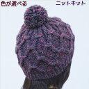 スターメツィードで編むノット巻きが可愛い帽 手編みキット ハマナカ リッチモア