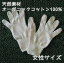 オーガニックコットン手袋[女性]アトピー・肌荒れ対策・紫外線UVカットやおやすみ手袋としても