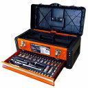 【特別価格】【三共コーポレーション】TSS-56 2段ツールボックス&56PCソケットセット