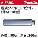 【マキタ makita】 [A-57803] 湿式 ダイヤモンドコアドリルビット (薄刃一体型) 外径:160mmφ