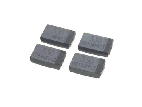 チップ・タンタル・コンデンサ6.3V330μF 4個セット 表面実装 OE128代替