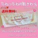 【メール便送料無料】【代引不可】☆新作☆TEDDY&KANONフェイスタオル 可愛い ピンク くま