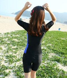 送料無料フィットネス水着体型カバーレディースラッシュガードセパレートショートパンツ袖カップ付きシンプルかわいいスポーツジム運動用プールビーチヨガエアロビクス大きいサイズ2点セット女性用大人女の子ママにもおすすめ