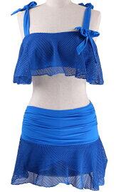 送料無料水着レディースワイヤービキニ2点セット女性用おしゃれ小胸もピッタリシースルー無地ショートパンツハイウエスト体型カバー大きいサイズ