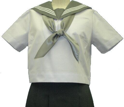 SH69衿・胸当て:グレー夏半袖セーラー服の商品画像