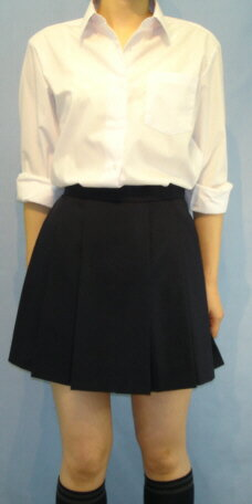 12H-N01ネイビースカートオシャレな12箱ヒ...の商品画像