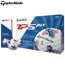 ショッピングPIXUS テーラーメイド TP5 pix USA デザイン ゴルフボール US 1ダース 2019