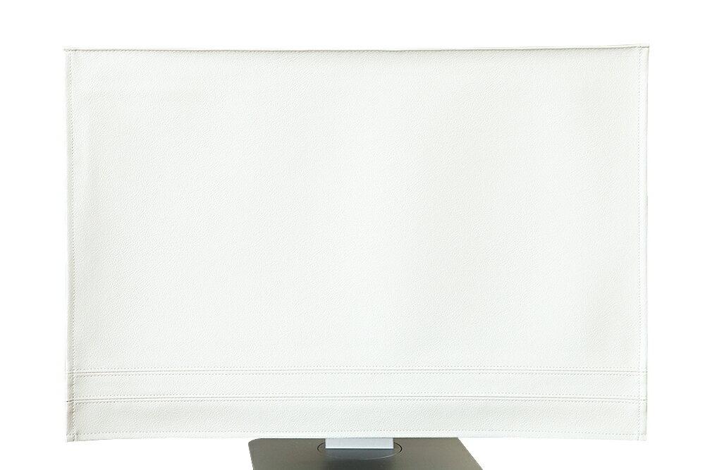 パソコンカバー ディスプレイカバー「ホワイト」【でインテリアにもなるモニターカバー ディスプレイ 液晶 デスクトップ型】【送料無料 ギフト プチギフト プレゼント 北欧 雑貨】