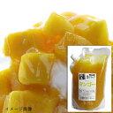 天然フルーツのかき氷シロップ 【冷凍】 氷屋さんちの削氷 〔けずりひ〕 生シロップ マンゴー 1kg ※通常品との同梱不可