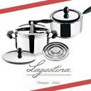ラゴスティーナ 圧力鍋5L・ノビア特別セット(圧力なべ5L なべフタ ソースパン) Lagostina 9323