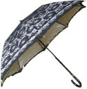 ショッピング傘 プレゼント かわいい UVカット総レーススライド中傘 ベージュ 日傘 UVカット率99% 軽量