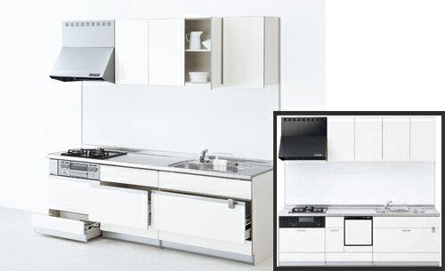 《※表示中の売価は参考価格です》 サンウェーブ sunwave システムキッチン シエラ Shiera スライドストッカープラン 食器洗い乾燥機タイプ