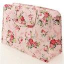パンセアラローズ 大型温泉バッグ リーフローズ柄 ピンク スパバッグ