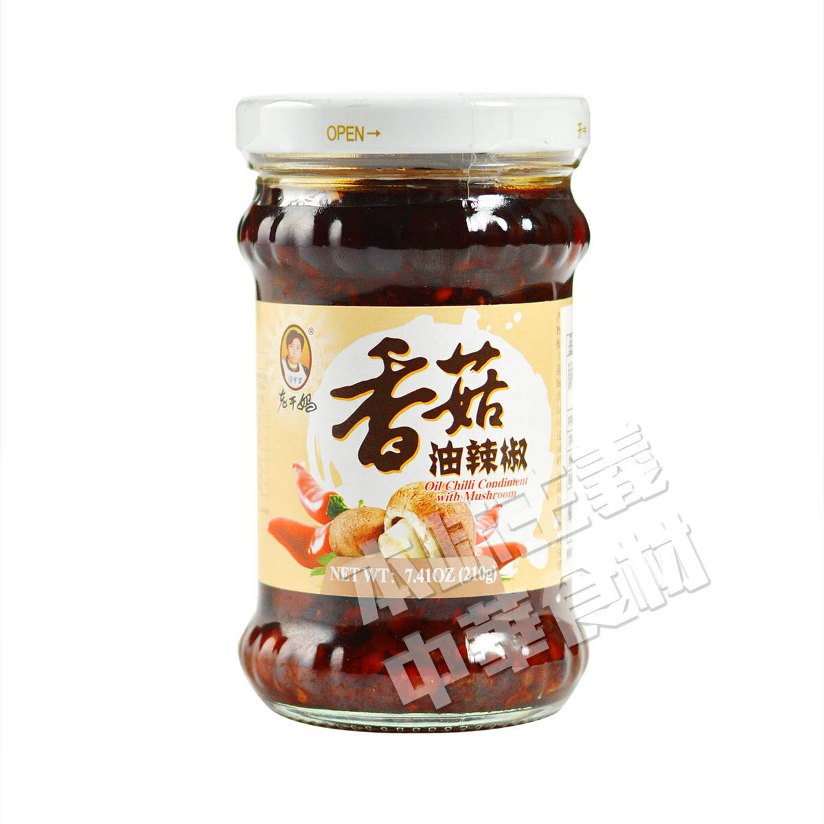 老干媽 香茹油辣椒(椎茸入り油製唐辛子)210g 中国名産・中華食材人気商品