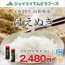 米 送料無料 5kg 29年産 山形県産 はえぬき精米5kg 一部地域は別途送料追加...