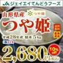 あす楽【新米】28年産 山形県産つや姫精米5kg 送料無料※一部地域は別途送料