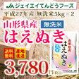 【無洗米】米 10kg米 送料無料米 白米 はえぬき米 ブランド米 JA米 単一原料米 27年産米