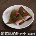 関東風桜餅キット 20食分 和菓子 天極堂 桜 春 お試し おうち時間【1コのみネコポス便可】
