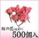 食品 - 【桜の花塩漬け(一輪) 1袋(約500個)】塩と梅酢で漬けこんだ八重桜の一輪