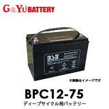 【送料無料】 BPC12-75 G&Yuグローバルユアサ EB電池(ゴルフカート・産業機械) 【代引不可/配達時間指定不可/沖縄離島配送不可/同梱不可】