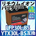 YTX30L-BS 互換 リチウムイオンバッテリー LFP30L-BS (互換: YTX30L-BS YIX30L-BS STX30L-BS 66010-97A...