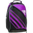 アディダス ADIDAS バリケード4バッグパック Barricade IV Backpack (ブラック/ピンク/ホワイト) 【ラケットバッグ】