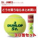 ダンロップ セント・ジェームス(St.JAMES)30缶セット(15缶×2ケース)【テニスボール】
