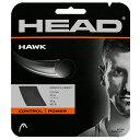 網球 - ガットを張って送料無料に!!ヘッド HEAD HAWK グレー 1.25mm GREY[ラケット同時ご購入者専用ガット張りサービス][テニスショップ グランドスラム]