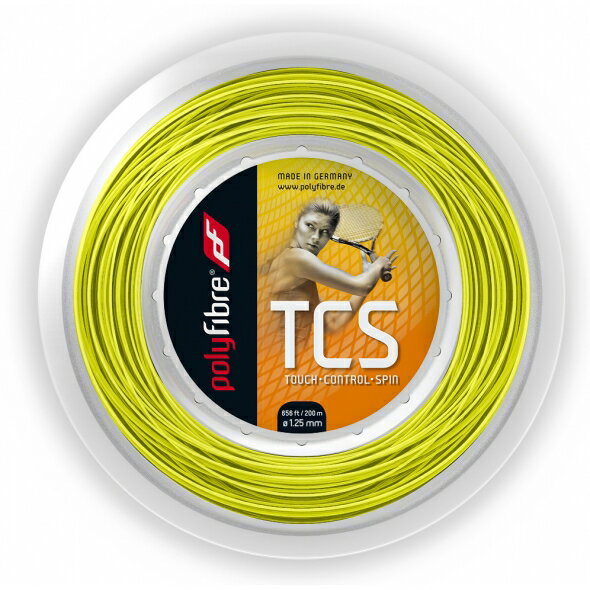 ポリファイバー TCS Polyfibre TCS 1.15/1.20/1.25/1.30[200Mロールガット][テニスショップ グランドスラム] 05P18Jun16
