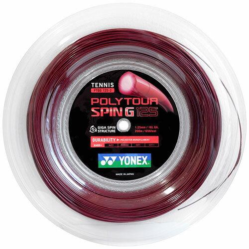 ヨネックス ポリツアースピンG 1.25mm 200mロールYonex Poly Tour Spin G 1.25mm