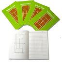 テニスノート tennis note(1冊) グリーン[作戦ノート][M便 1/6](テニス ノート